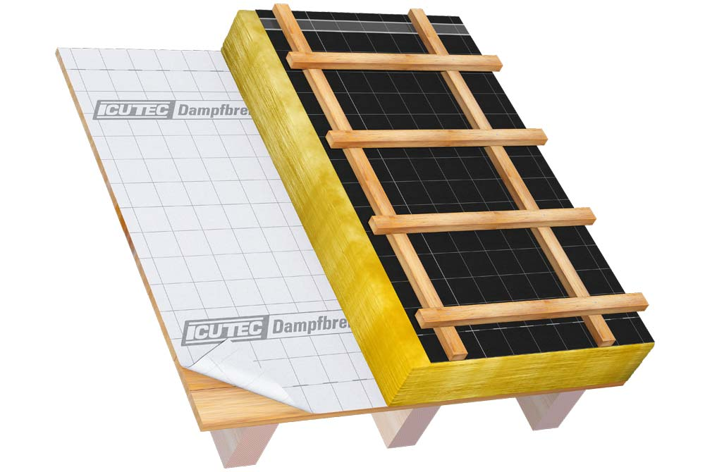 icutec dampfbremse sd2 dampfbrems dampfsperrbahn von icutec. Black Bedroom Furniture Sets. Home Design Ideas